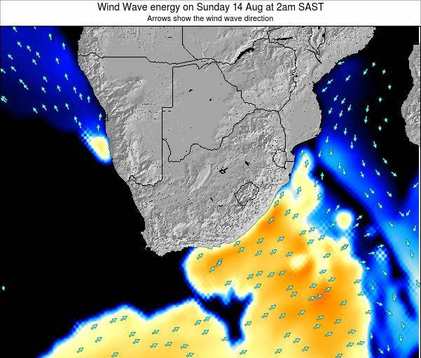 South Africa Wind Wave energy on Thursday 24 Apr at 2pm SAST