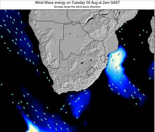 South Africa Wind Wave energy on Friday 02 Sep at 8am SAST