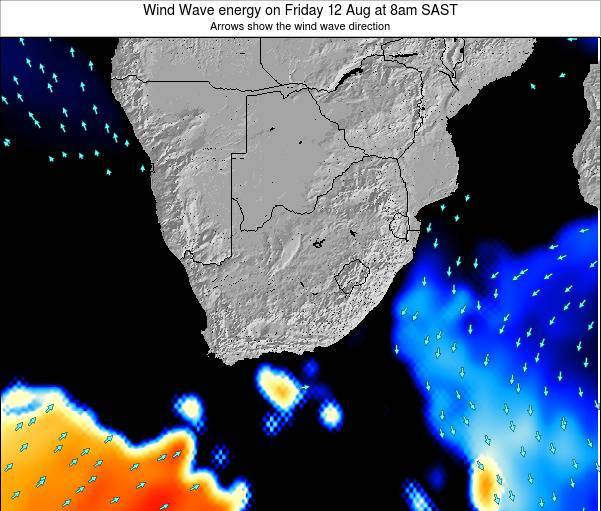 South Africa Wind Wave energy on Tuesday 25 Jun at 2pm SAST