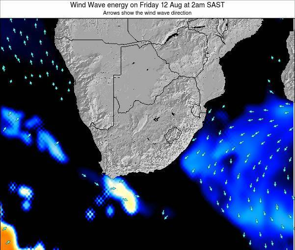 South Africa Wind Wave energy on Monday 17 Mar at 2pm SAST