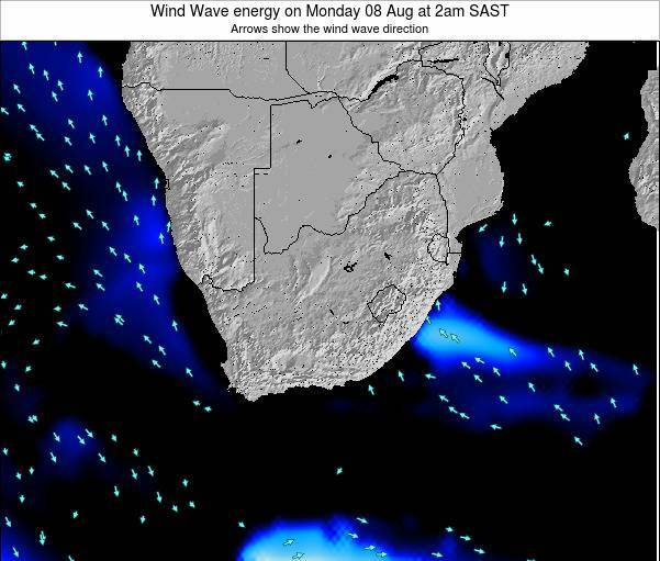 South Africa Wind Wave energy on Sunday 15 Dec at 2am SAST