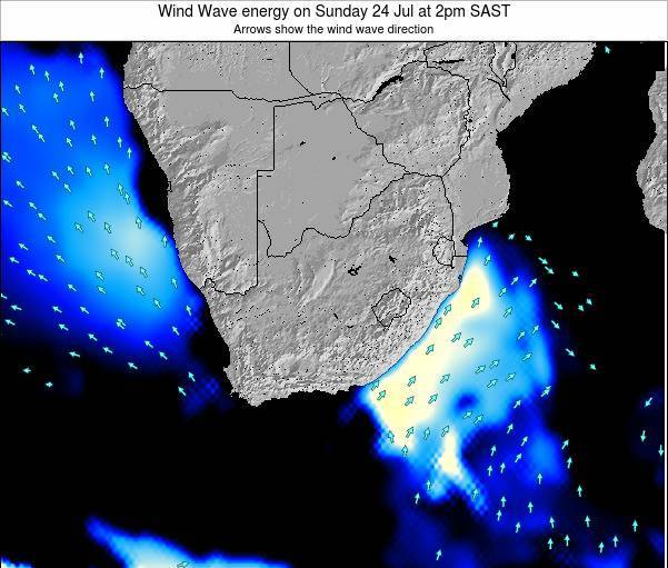 South Africa Wind Wave energy on Saturday 26 Jul at 2am SAST