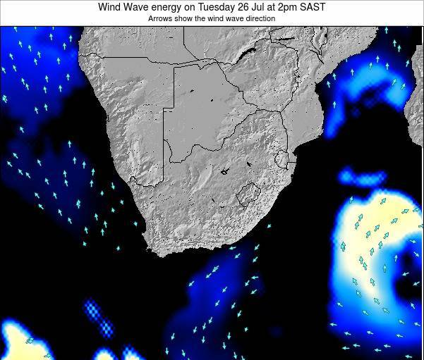 South Africa Wind Wave energy on Thursday 31 Jul at 8pm SAST