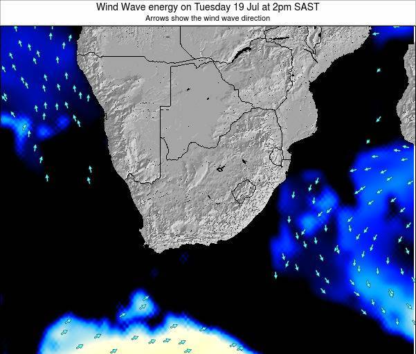 South Africa Wind Wave energy on Sunday 26 May at 2pm SAST