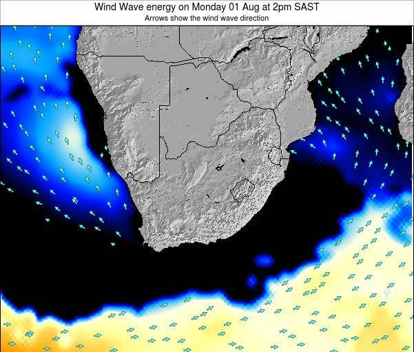 South Africa Wind Wave energy on Thursday 31 Jul at 8am SAST