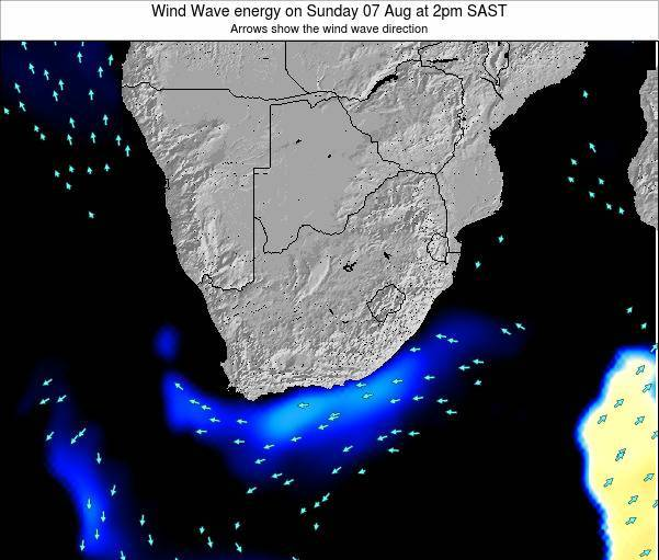 South Africa Wind Wave energy on Sunday 27 Apr at 8pm SAST