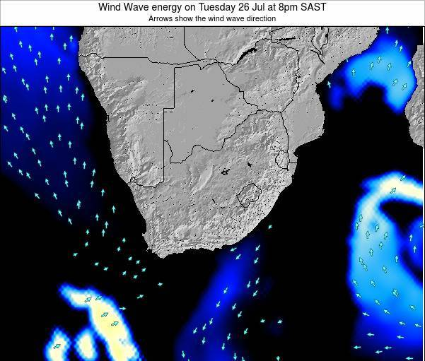 South Africa Wind Wave energy on Sunday 27 Apr at 8am SAST