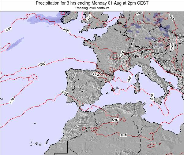 Spain Precipitation for 3 hrs ending Wednesday 22 May at 8am CEST