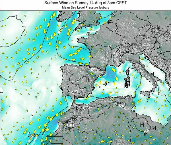 Andorra Surface Wind on Wednesday 29 May at 2am CEST map