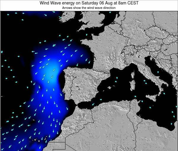 Spain Wind Wave energy on Thursday 30 May at 2am CEST