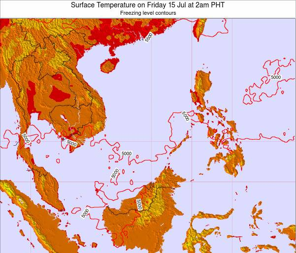 SpratlyIslands Surface Temperature on Thursday 25 Apr at 8pm PHT map