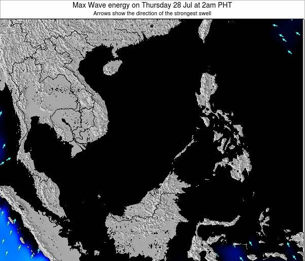 SpratlyIslands Max Wave energy on Friday 19 Apr at 2am PHT map
