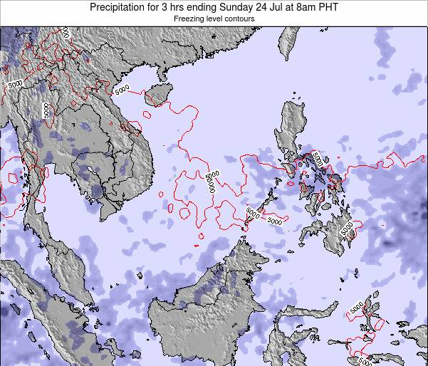 SpratlyIslands Precipitation for 3 hrs ending Sunday 21 Apr at 2pm PHT map