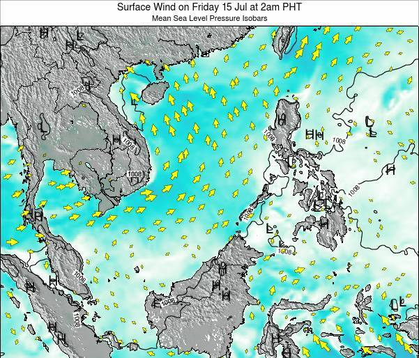 SpratlyIslands Surface Wind on Saturday 20 Apr at 8pm PHT map