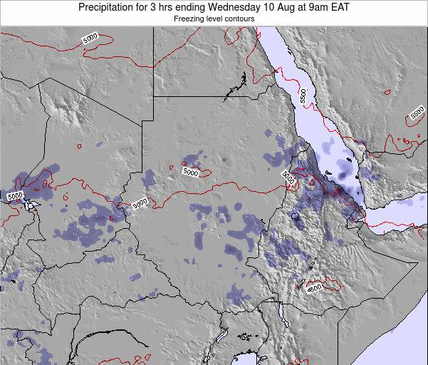 Sudan Precipitation for 3 hrs ending Wednesday 29 May at 9pm EAT map