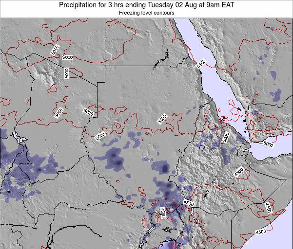 Sudan Precipitation for 3 hrs ending Friday 24 May at 3pm EAT map