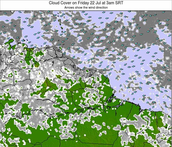 Guyana Cloud Cover on Wednesday 30 Jul at 3pm SRT map