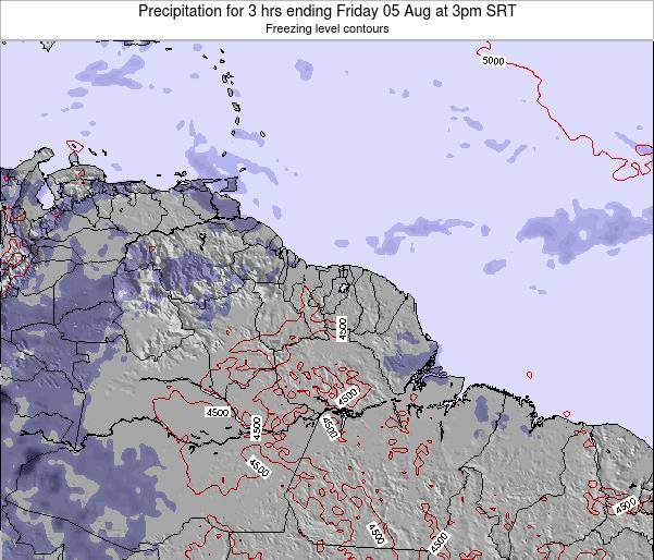 Guyana Precipitation for 3 hrs ending Friday 13 Dec at 9am SRT map