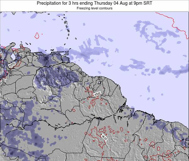 Guyana Precipitation for 3 hrs ending Wednesday 22 May at 9am SRT map