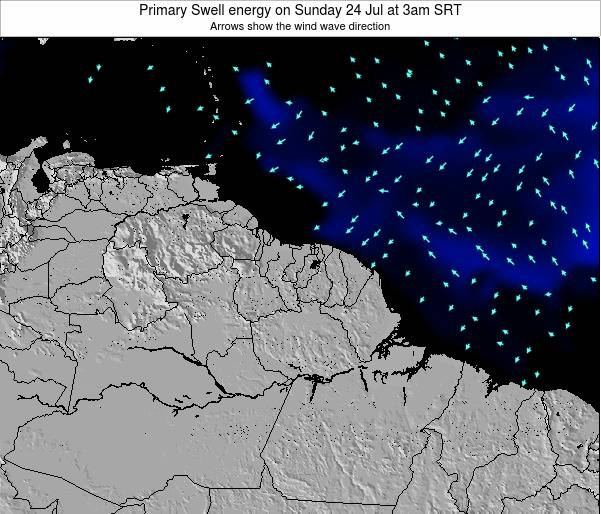 French Guiana Primary Swell energy on Thursday 13 Dec at 3pm SRT map