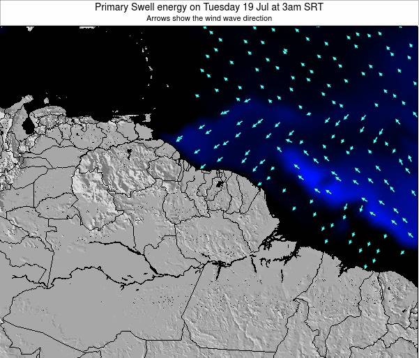French Guiana Primary Swell energy on Sunday 24 Mar at 3pm SRT map