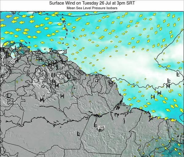French Guiana Surface Wind on Wednesday 22 May at 9am SRT