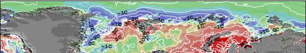 Svalbard Temperature del mare anomalia Mappa