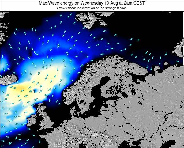 Sweden Max Wave energy on Thursday 23 May at 8pm CEST