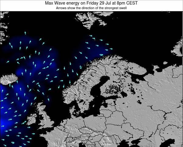 Sweden Max Wave energy on Saturday 01 Jun at 2am CEST