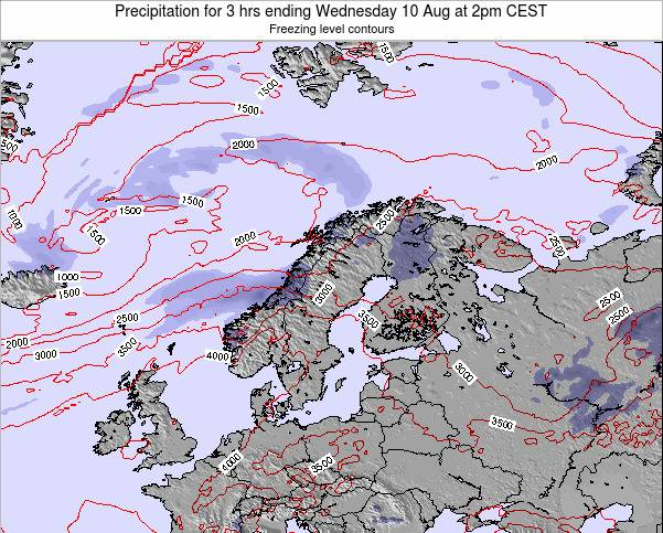 Sweden Precipitation for 3 hrs ending Wednesday 29 May at 2pm CEST map