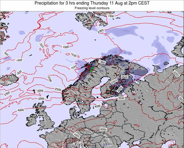 Finland Precipitation for 3 hrs ending Wednesday 29 May at 2am CEST map