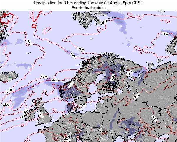 Norway Precipitation for 3 hrs ending Thursday 23 May at 2pm CEST map