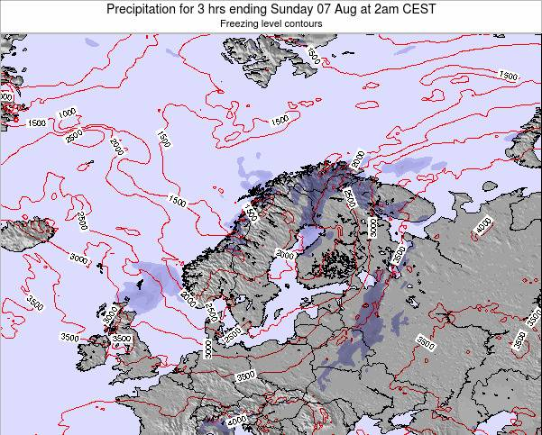 Finland Precipitation for 3 hrs ending Sunday 19 May at 8pm CEST