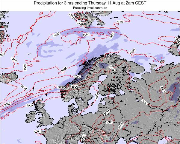 Finland Precipitation for 3 hrs ending Wednesday 22 May at 2am CEST map