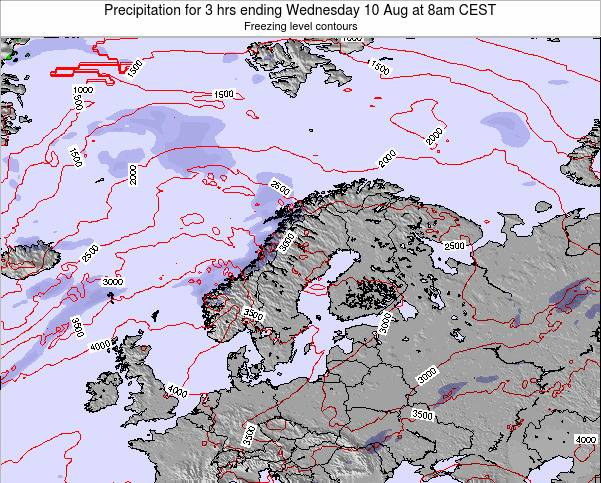 Norway Precipitation for 3 hrs ending Friday 24 May at 8am CEST map