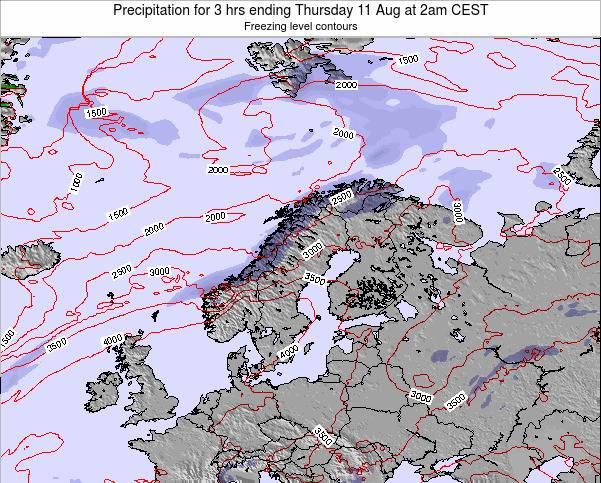 Norway Precipitation for 3 hrs ending Tuesday 28 May at 2pm CEST map