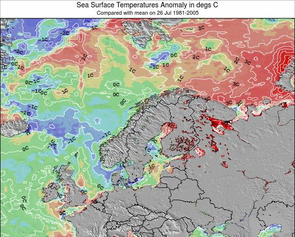 Norway Sea Temperature Anomaly Map