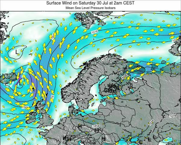 Finland Surface Wind on Sunday 19 May at 8pm CEST