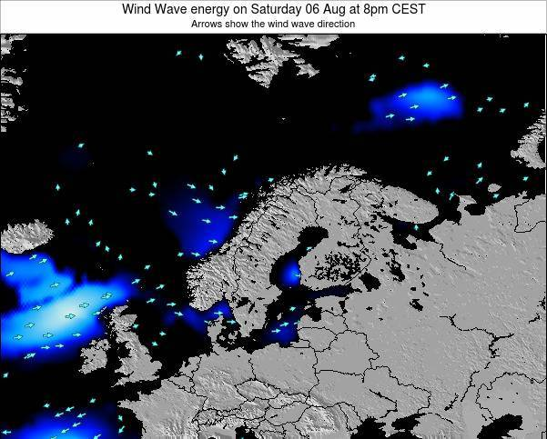 Norway Wind Wave energy on Tuesday 18 Jun at 8am CEST
