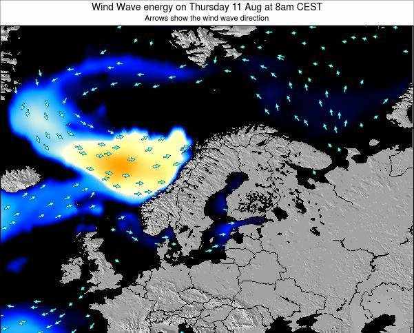Finland Wind Wave energy on Monday 04 Aug at 8am CEST