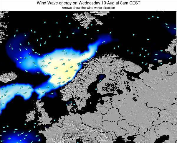 Sweden Wind Wave energy on Wednesday 26 Jun at 2am CEST