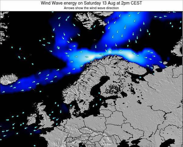 Norway Wind Wave energy on Wednesday 29 May at 2am CEST