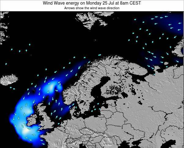 Finland Wind Wave energy on Saturday 01 Nov at 7pm CET