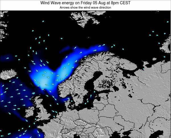 Finland Wind Wave energy on Sunday 19 May at 8am CEST