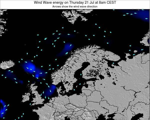 Finland Wind Wave energy on Friday 13 Dec at 1am CET