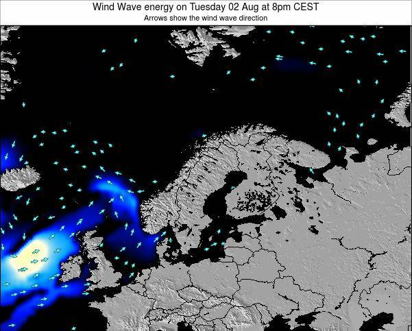 Sweden Wind Wave energy on Wednesday 22 May at 8am CEST