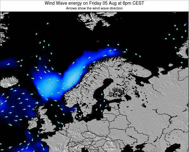 Sweden Wind Wave energy on Monday 20 May at 8am CEST
