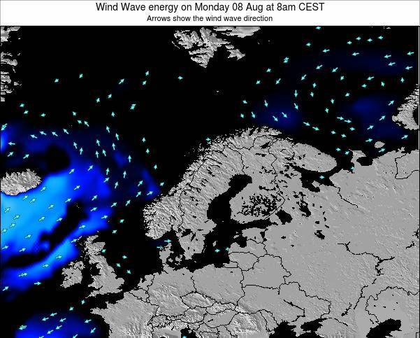 Sweden Wind Wave energy on Wednesday 23 Apr at 2am CEST