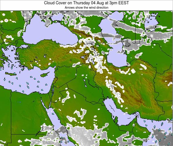 Israel Cloud Cover on Thursday 30 May at 9am EEST