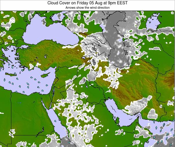 Israel Cloud Cover on Friday 24 May at 9am EEST